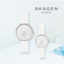"【SKAGEN】""AAREN KULØR COLLECTION""ホワイトカラー!"